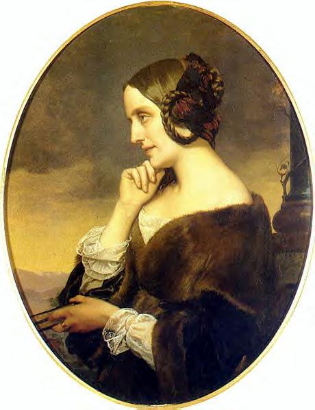 アンリ・レーマンによるマリー・ダグー夫人の肖像1843年